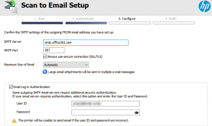 SMTP Setup